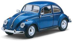 VW VOLKSWAGEN CLASSIC BEETLE 1:24 Scale Diecast Car Model Die Cast Models Blue