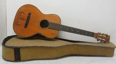 Vintage Acoustic Parlor Guitar w/ Case