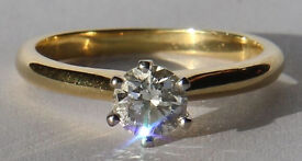 Beautiful .52 carat Diamond Solitaire ring independently graded