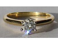 0.52 carat Diamond Solitaire Ring