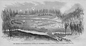 CIVIL-WAR-BATTLE-OF-GOLDSBOROUGH-1863-ANTIQUE-PRINT