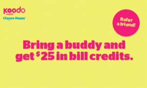 Get a $25 Bill credit with Koodo when you sign up with them