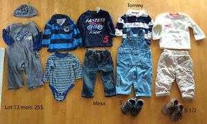 Lot vêtements garçon 12 mois (Mexx, Tommy)