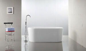"NEW Jazmin Freestanding Bath Tub 63"" **BLOWOUT SALE $599**"