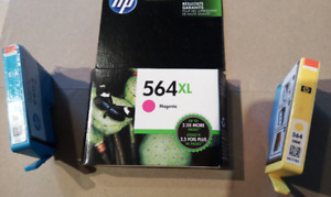 HP 564 XL Magenta, HP564 Yellow and HP564 Cyan cartridges
