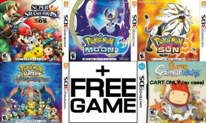 Selling/Trading 3DS/DS Smash Bros, Pokemon, more + FREE GAME