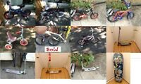 Collection of used bikes for kids