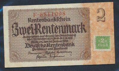 DDR Rosenbg: 331a gebraucht (III) 1948 2 DM auf 2 Rentenmark (9055412