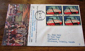1967 Erie Canal Sesquicentennial Committee 5Cent First Day Cover Kitchener / Waterloo Kitchener Area image 1