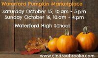 Waterford Pumpkin Marketplace, Sat. Oct. 15 & Sun. Oct. 16