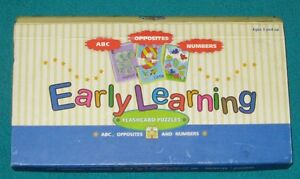 Early Learning EDUCATIONAL Flashcard puzzles by SPICE BOX