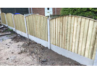 🌲Heavy Duty Feather Edge Close Board Wooden Arch Top Fence Panels