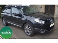 £282.89 PER MONTH BLACK 2011 NISSAN QASHQAI +2 2.0 TEKNA 4X4 7 SEAT DIESEL AUTO