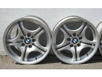 """BMW M SPORT STAGGERED ALLOY WHEELS 17"""" E36 E46 F20 E81 E87 E34 E39 + MORE"""