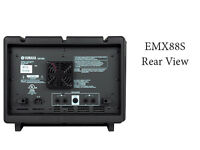 Yamaha EMX 88S Power Amp Mixer With PA Speakers *