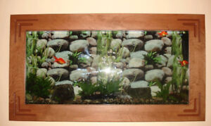 Aquarium + accessoires/Wall aquarium with all accessories