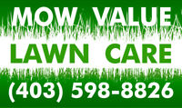 MOW VALUE LAWN CARE for lawn maintenance