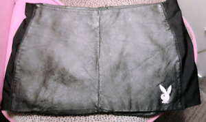 Playboy genuine leather skirt