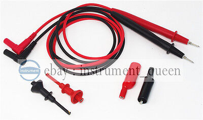 Test Lead Sharp Tip With Screwprobe Hook Clip 62mmaligator Clip For Multimeter