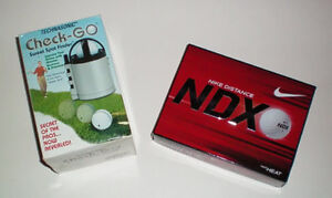 Golf Ball Sweet Spot Finder and 3 Sleeves of Nike NDX Balls