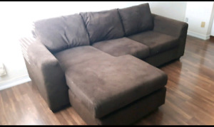 Chocolate brown couch for sale