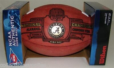 - Alabama Crimson Tide BCS National Champions Limited Leather Full Size Football