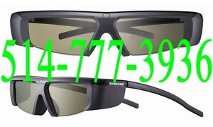 2 Lunettes 3D Glasses Samsung SSG-2100AB/ZA  Infrarouge IR