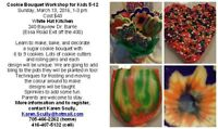 A Cookie Bouquet Workshop for Kids 5-12