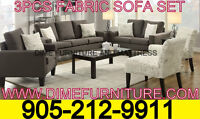 NO TAX 3PCS MICRO FIBRE SOFA SET $499 ONLY