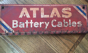 metal Atlas Battery Cable sign