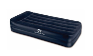 Outbound High flocked airbed with built in pump (Twin)
