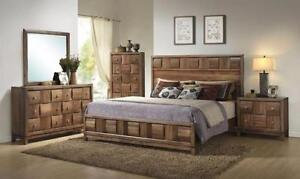 Medford Walnut Queen Bedroom 5pc set ( King Available )
