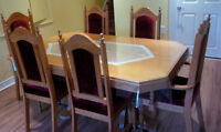 Dinning Room Set Table with 6 Chairs & Chest
