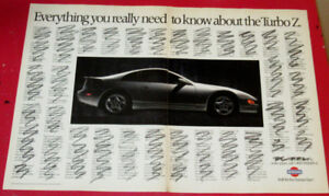 1991 NISSAN 300ZX TURBO CLEVER RETRO AD - ANONCE AUTO SPORT 90S