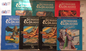 """Roleplaying Book Lot: """"Dungeons & Dragons"""" circa 1984"""