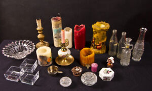 30 piece Crystal / Candle / bottle / collection