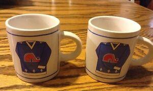 Vintage. 2 petites tasses de la LNH. LES NORDIQUES DE QUÉBEC Gatineau Ottawa / Gatineau Area image 2