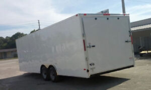 BRAND NEW 24x8.5ft ENCLOSED CAR TRAILER BLOW OUT PRICING !