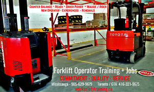 Forklift Training + Licence + Jobs $14-$20 - Get Working Today!