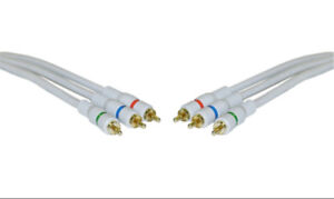 3ft High Quality HD Component Video Cables. High Definition