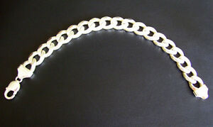 9 INCH CURB LINK HEAVY 925 ITALY STERLING SILVER MENS BRACELET Kitchener / Waterloo Kitchener Area image 1