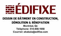 Dessinateur plan de construction démolition rénovation