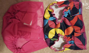 Cloth diaper covers for dolls