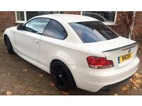 CAR FOR SALE - White BMW 123D M.Sport Coupe