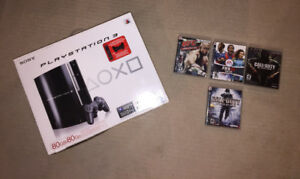 Sony Playstation 3 Console, Controllers and Games