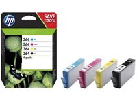 HP 364 4-pack Black and Colour Combo Pack. £20 each or 3 packs for £55