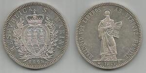 SAN-MARINO-Vecchia-monetazione-5-Lire-1898