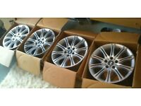 "18"" BMW STYLE ALLOY WHEELS X 4 BRAND NEW"