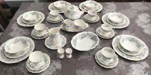 Royal Albert Silver Maple 45pc Dinner and Tea Set