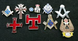 Wholesale Trade lot of 10 Knights Templar Freemason Scottish Rite Pin Badges
